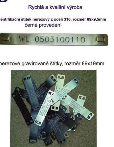 Nerezový kabelový štítek, dva rozměry, laserem gravírujeme měnitelná data